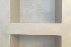 mikrocement w łazience pod prysznicem