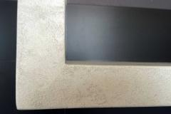 półka kuchenna wykończona mikrocementem